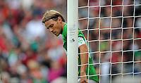 FUSSBALL   1. BUNDESLIGA   SAISON 2012/2013   3. SPIELTAG Hannover 96 - SV Werder Bremen     15.09.2012 Clemens Fritz (SV Werder Bremen) ist enttaeuscht