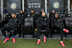 Christian Eriksen and Ashley Young of Inter sit on the bench with team mates during the Coppa Italia match at Giuseppe Meazza, Milan. Picture date: 12th February 2020. Picture credit should read: Jonathan Moscrop/Sportimage