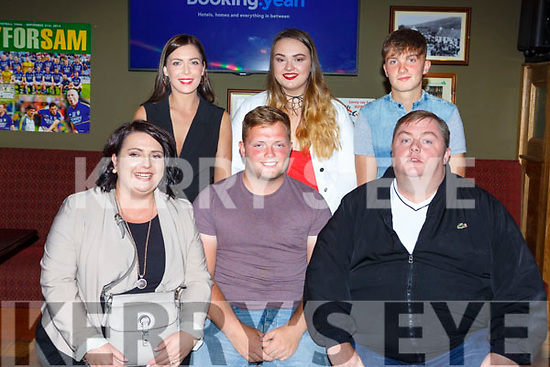 Jason O'Sullivan Killarney with his family at his 21st birthday party in the Sportsmans bar Killarney last Saturday night l-r: Elaine, Lauren, Jason, Rebakah, Adam and Padraig O'Sullivan