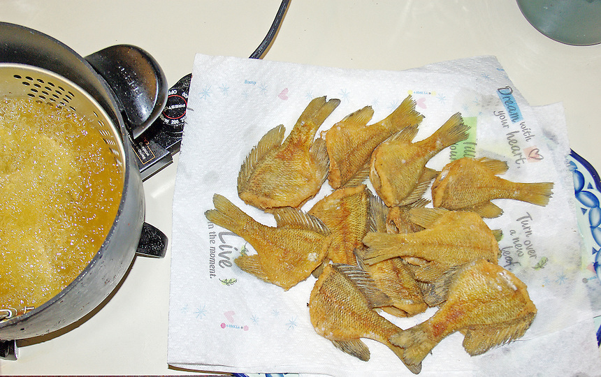 Fried bluegills Fish cooking
