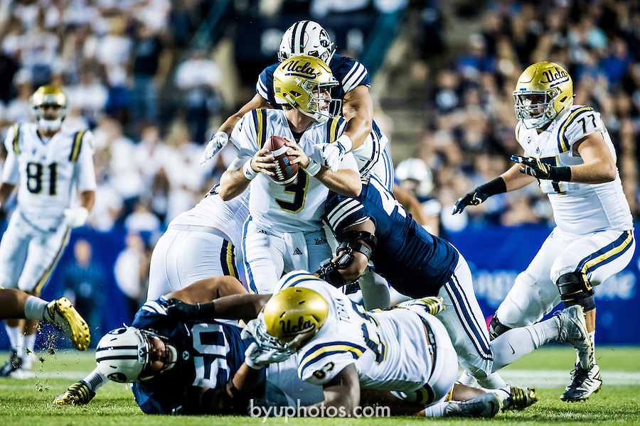16FTB vs UCLA 1568<br /> <br /> 16FTB vs UCLA<br /> <br /> BYU Football vs UCLA<br /> <br /> BYU-14<br /> UCLA-17<br /> <br /> September 17, 2016<br /> <br /> Photo by Savanna Sorensen/BYU<br /> <br /> © BYU PHOTO 2016<br /> All Rights Reserved<br /> photo@byu.edu  (801)422-7322