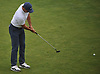 Rory McIlroy works on putting to the 1st Hole during a practice round prior to the U.S. Open Championship at Shinnecock Hills Golf Club in Southampton on Sunday, June 10, 2018.