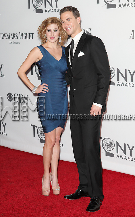 Caissie Levy and Richard Fleeshman pictured at the 66th Annual Tony Awards held at The Beacon Theatre in New York City , New York on June 10, 2012. © Walter McBride / WM Photography