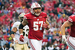 Wisconsin Badgers defensive lineman Alec James (57) during an NCAA College Big Ten Conference football game against the Purdue Boilermakers Saturday, October 14, 2017, in Madison, Wis. The Badgers won 17-9. (Photo by David Stluka)