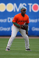 March 2, 2010:  Outfielder Chantz Mack of the Miami Hurricanes during a game at Legends Field in Tampa, FL.  Photo By Mike Janes/Four Seam Images