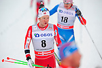 HOLMENKOLLEN, OSLO, NORWAY - March 16: (8) Sjur Roethe of Norway (NOR) after the Men 50 km mass start, free technique, at the FIS Cross Country World Cup on March 16, 2013 in Oslo, Norway. (Photo by Dirk Markgraf)