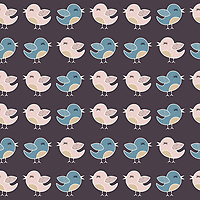 """Birds In Love"" is a scalable vector surface pattern collection - inspired by cute birds and the sweet chemistry they share, which is often visible in their body language and behavior.<br />