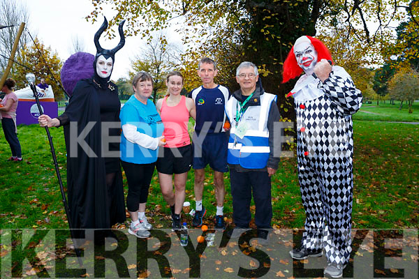 Bridget Moore, Ann McCarthy, Ann Kelliher, Ollie Horan, John Conway and Kevin Williams enjoying the spooktacular parkrun in Fancy Dress on Saturday