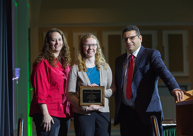 Civil Engineering Junior Academic Achievement Award: Anisa Hardin, Fritz J. and Dolores H. Russ College of Engineering and Technology Student Awards Banquet April 10, 2016. (Photo by Emily Matthews)