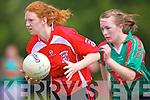 Louise Ni Mhuircheartaigh(red) Niamh Guiney.