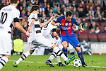 VfL Borussia Monchengladbach's Thorgan Hazard, Tobias Strobl, FC Barcelona's Paco Alcacer during Champions League match between Futbol Club Barcelona and VfL Borussia Mönchengladbach  at Camp Nou Stadium in Barcelona , Spain. December 06, 2016. (ALTERPHOTOS/Rodrigo Jimenez)