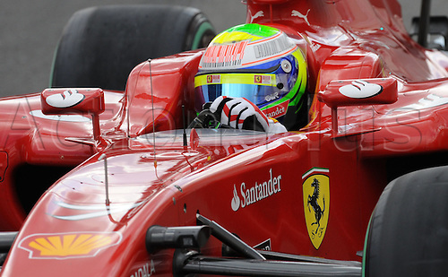 Brazilian driver Felipe Massa of Ferrari drives his car across the race track during qualifying at Spa-Francorchamps Circuit near Spa, Belgium