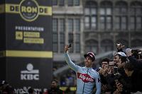 Jens Debusschere (BEL/Katusha Alpecin) pre race selfie <br /> <br /> 103rd Ronde van Vlaanderen 2019<br /> One day race from Antwerp to Oudenaarde (BEL/270km)<br /> <br /> ©kramon