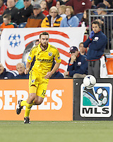 Columbus Crew forward Eddie Gaven (12) on the attack. In a Major League Soccer (MLS) match, the New England Revolution tied the Columbus Crew, 0-0, at Gillette Stadium on June 16, 2012.