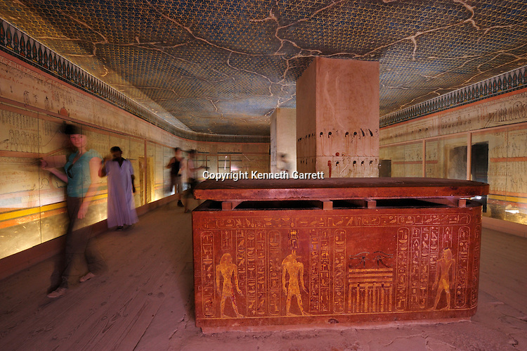 Zahi Hawass Secret Egypt Travel Guide; Egypt; archaeology; Luxor; West Bank; Valley of the Kings, Tomb of Thutmose III, Thutmosis III, New Kingdom, sarcophagus