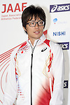 Takayuki Kishimoto (JPN), <br /> JUNE 10, 2013 - Athletics : Athletics Japan National Team Press Conference for the IAAF World Championships 2013 Moscow at Akasaka Sacas Gallery in Tokyo, Japan. <br /> (Photo by AFLO SPORT)