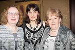 DINNER: Margaret Boyle,Kathleen Carmody and Noleen Lee, having dinner in The Grand Hotel, Tralee on Womens Christmas Wednesday night.... ....