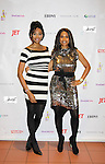 Presenter Nana Meriwether (Miss USA 2012) gave Fashion Icon Award Color of Beauty Awards to supermodel Beverly Johnson on February 4, 2014 at Holy Apostles, New York City, New York. (Photo by Sue Coflin/Max Photos)