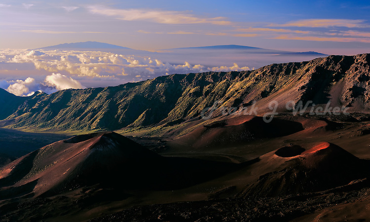 Beautiful early morning light in the crater of HALEAKALA NATIONAL PARK on Maui in Hawaii are moments to remember