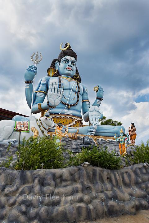 Hindu statue of Shiva praying at Koneswaram temple in Trincomalee, an important hindu shrine, Sri Lanka.