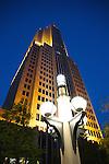 NBC tower at night