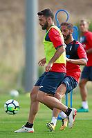 Getafe CF's Jorge Molina (l) and Francisco Molinero during training session. August 1,2017.(ALTERPHOTOS/Acero) /NortePhoto.com