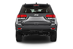 Straight rear view of a 2014 JEEP Grand Cherokee Laredo 5 Door SUV Rear View  stock images