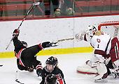 Kelly Wallace (NU - 5), Laura Bellamy (Harvard - 1) - The Harvard University Crimson defeated the Northeastern University Huskies 1-0 to win the 2010 Beanpot on Tuesday, February 9, 2010, at the Bright Hockey Center in Cambridge, Massachusetts.