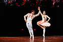 """London, UK. 03.10.2016. Sadler's Wells presents """"Carlos Acosta: The Classical Farewell"""", at the Royal Albert Hall. Picture shows: Carlos Acosta and Marianela Nunez dancing a pas de deux from Don Quixote, choreographed by Marius  Petipa and Carlos Acosta. Photograph © Jane Hobson."""