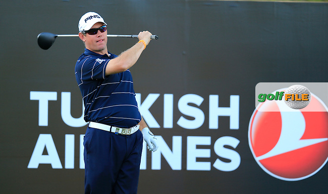 Lee Westwood (ENG) during round 2 of the Turkish Airlines Open presented by the Ministry of Tourism and Culture, hosted at the The Montgomerie Maxx Royal,Antalya,Turkey.<br /> Picture: Fran Caffrey www.golffile.ie
