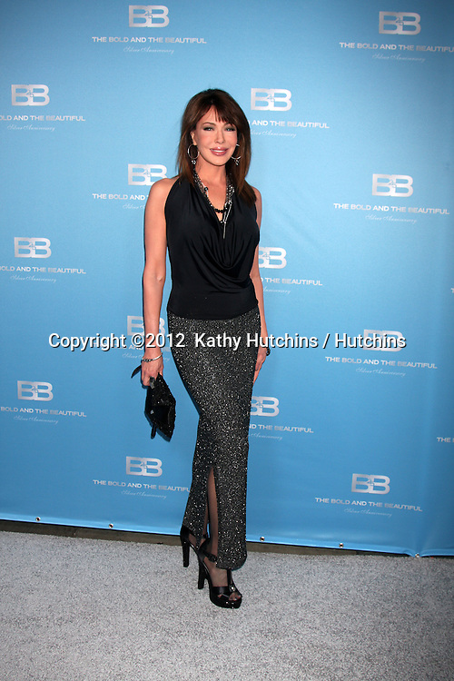 LOS ANGELES - MAR 10:  Hunter Tylo arrives at the Bold and Beautiful 25th Anniversary Party at the Perch Resturant on March 10, 2012 in Los Angeles, CA
