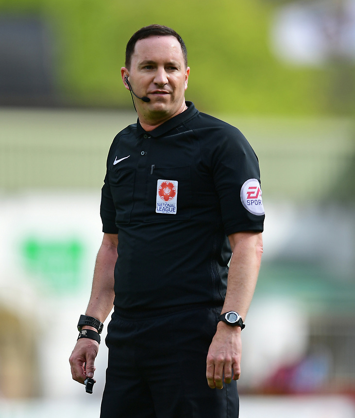 Referee Joseph Johnson<br /> <br /> Photographer Chris Vaughan/CameraSport<br /> <br /> Vanarama National League - Lincoln City v Torquay United - Friday 14th April 2016  - Sincil Bank - Lincoln<br /> <br /> World Copyright &copy; 2017 CameraSport. All rights reserved. 43 Linden Ave. Countesthorpe. Leicester. England. LE8 5PG - Tel: +44 (0) 116 277 4147 - admin@camerasport.com - www.camerasport.com