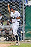 Nick Castellanos of the Gulf Coast League Tigers at Tiger Town in Lakeland, Florida August 26, 2010. Castellanos was the Detroit Tigers 1st round pick (44th overall) of the 2010 MLB Draft. Photo By Scott Jontes/Four Seam Images