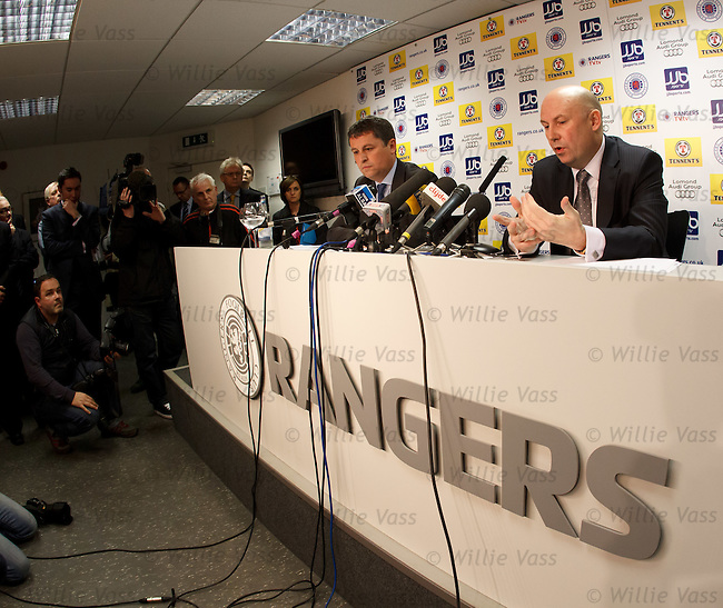 Administrators David Whitehouse and Paul Clark at Ibrox