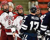 (Girard) Patrick McNally (Harvard - 8), Desmond Bergin (Harvard - 37), Andrew Miller (Yale - 17), Tommy O'Regan (Harvard - 13) - The Yale University Bulldogs defeated the Harvard University Crimson 5-1 on Saturday, November 3, 2012, at Bright Hockey Center in Boston, Massachusetts.