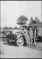 BNPS.co.uk (01202 558833)<br /> Pic:   HistoryPress/BNPS<br /> <br /> Joyce Elizabeth Gaster on top of a haulage truck.<br /> <br /> These inspiring photos tell the little known story of the patriotic women who chopped down trees to help us win the Second World War.<br /> <br /> When war was declared in September 1939 Britain was almost completely dependent on imported timber and only had seven months worth of it stockpiled.<br /> <br /> With men being sent to the front line in their droves, the Woman's Timber Corps was established to fell trees, operate sawmills and run forestry sites.<br /> <br /> About 15,000 women, some as young as 14, volunteered to carry out the arduous tasks previously done by men.