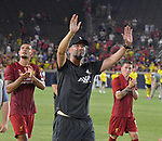 Football: Test Match, Liverpool FC - Borussia Dortmund. Liverpool head coach Jurgen Klopp and the team circled the pitch waving to fans after their exhibition match on July 19, 2019 at Notre Dame Stadium. <br /> Tim Vizer/DPA