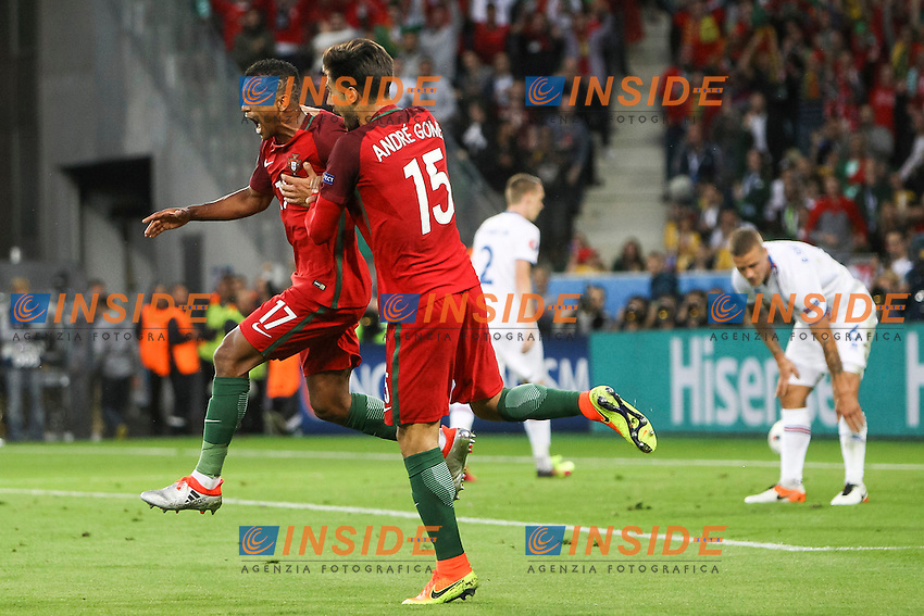 Nani of Portugal Esultanza Gol Celebration Goal <br /> Saint-Etienne 14-06-2016 Stadium Geoffroy-Guichard Football Euro2016 Portugal-Iceland / Portogallo-Islanda Group Stage Group F<br /> Foto Daniel Chesterton / PHC / Panoramic / Insidefoto