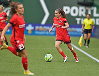 Portland, Oregon - Saturday July 9, 2016: Portland Thorns FC midfielder Meleana Shim (6) during a regular season National Women's Soccer League (NWSL) match at Providence Park.