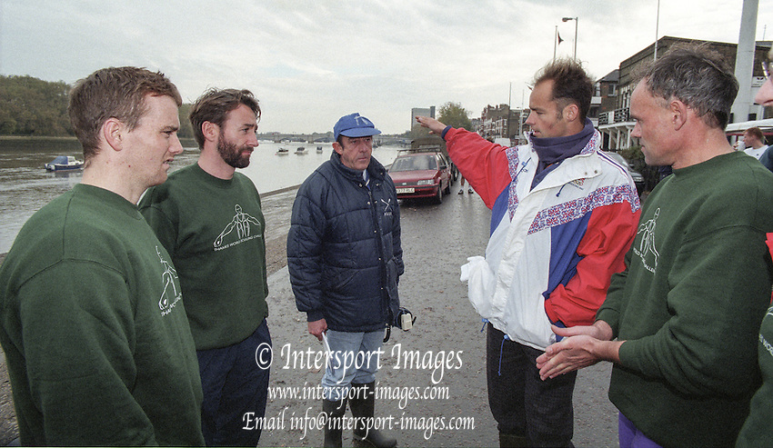 Putney. London. GREAT BRITAIN;  Left to right, Niall O'TOOLE. Peter HAINING, Mike ROSEWELL, Wade HALL CRAGGS and Frans GOEBEL <br /> <br /> 1995 Thames World Sculling Championships, Putney to Mortlake. Championship Course, River Thames.<br /> <br /> [Mandatory Credit; &quot;Photo, Peter Spurrier/Intersport-images]