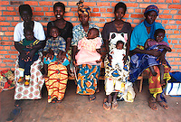 Kigali / Rwanda.<br /> Mothers with their kids in the 'Malnutrition centre for children' run by NGO Caritas to support poor families.<br /> Photo Livio Senigalliesi