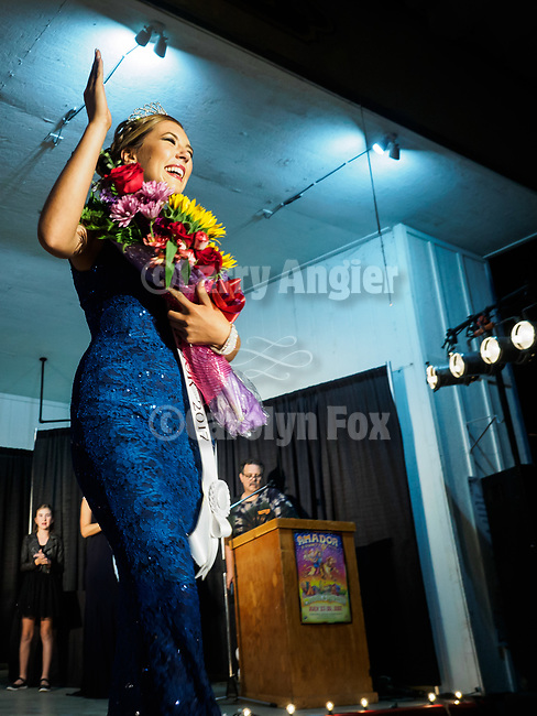 The newly-crowned 2017 Miss Amador: Trinity Karschner, Miss Amador Scholarship Pageant at the 79th Amador County Fair, Plymouth, Calif.<br /> <br /> <br /> #AmadorCountyFair, #PlymouthCalifornia,<br /> #TourAmador, #VisitAmador,