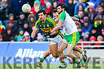 Aidan O'Mahony, Kerry, in action against in the national Football League, Division 1, Round 4, at Austin Stack Park, Tralee on Sunday.