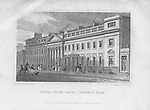 Royal York Baths, Regent's Park, engraving from 'Metropolitan Improvements, or London in the Nineteenth Century', England, UK 1828