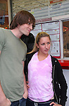Zack Conroy and fan - Guiding Light's actors meet fans at Stacy Jo's Ice Cream in McKees Rocks, PA on September 30, 2009. During the weekend of events proceeds from pink ribbon bagel sales at various Panera Bread locations will benefit the Young Women's Breast Cancer Awareness Foundation. (Photo by Sue Coflin/Max Photos)