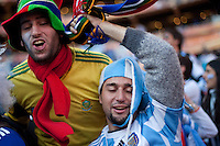 Argentina fans celebrate at Soccer City in Johannesburg, South Africa on Thursday, June 17, 2010 during Argentina's and South Korea FIFA World Cup first round match.