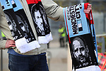 Manchester City Manager Pep Guardiola and Jose Mourinho manager of Manchester United  appear on scarves before the English Premier League match at The Etihad Stadium, Manchester. Picture date: April 27th, 2016. Photo credit should read: Lynne Cameron/Sportimage