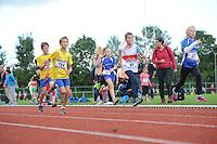 ATLETIEK: HEERENVEEN: 19-09-2015, Athletic Champs AV Heerenveen, Mees Flapper (#124 | 10 jaar), Aron Smedinga (#85 | 10 jaar), Kim Otten (#27 | 10 jaar), ©foto Martin de Jong