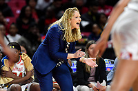 College Park, MD - March 23, 2019: Maryland Terrapins head coach Brenda Frese on the sideline during first round action of game between Radford and Maryland at Xfinity Center in College Park, MD. Maryland defeated Radford 73-51. (Photo by Phil Peters/Media Images International)