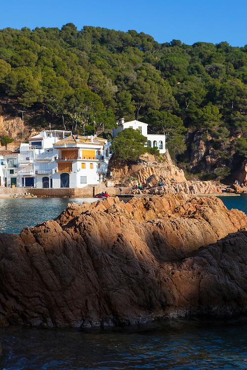 The coastline at Tamariu, Catalonia, Spain